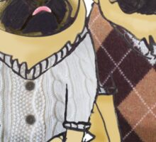 Sweater Puggies Sticker