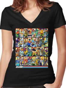 G.I. Joe in the 80s! (Version B) Women's Fitted V-Neck T-Shirt