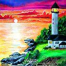 emerald lighthouse by LoreLeft27