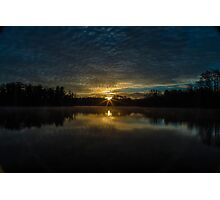 winter sun rise Photographic Print