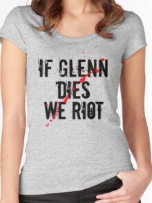 IF GLENN DIES WE RIOT Women's Fitted Scoop T-Shirt