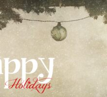 Happy Holidays (Christmas Baubles) Sticker