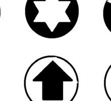 Random shapes in bubbles  Sticker