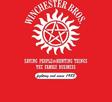 SUPERNATURAL - WINCHESTER BROS. iPhone case by thischarmingfan