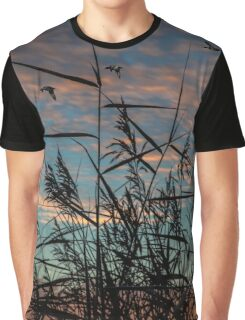 wild grass with sunrise Graphic T-Shirt