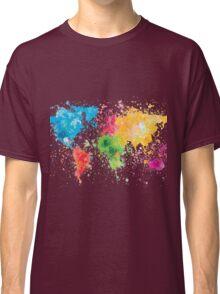 world map painting Classic T-Shirt