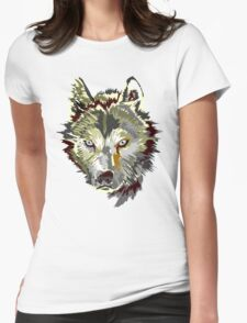 Wolf vector design Womens Fitted T-Shirt