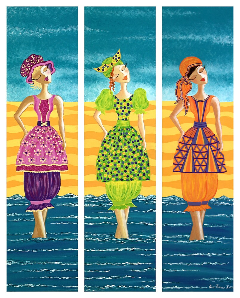 Beach Bloomers ~ just old fashioned girls by Lisafrancesjudd
