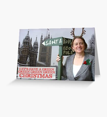 Green Party Christmas Card Natalie Bennett Greeting Card