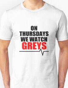 ON THURSDAYS WE WATCH GREY'S - For light Unisex T-Shirt