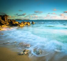 Sunlit Rocky Cove by Jill Fisher