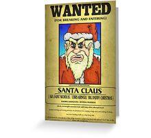 Santa Claus Wanted Poster Greeting Card