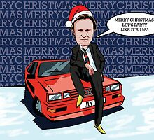 Ashes to Ashes Gene Hunt Christmas Card by mattoakley