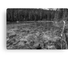 Rocky Cobblestones - 1st Lake (BW) Canvas Print