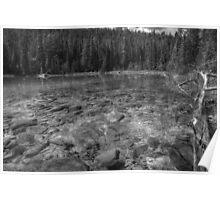 Rocky Cobblestones - 1st Lake (BW) Poster