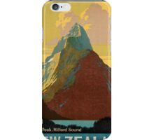 Vintage poster - New Zealand iPhone Case/Skin