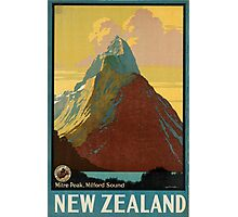 Vintage poster - New Zealand Photographic Print