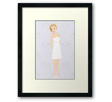 bride in mini dress Framed Print