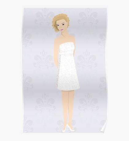 bride in mini dress Poster