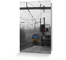 Train 333002 from Bradford to Leeds Arrives at Shipley Greeting Card