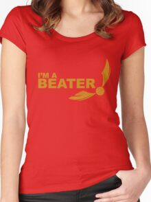 I'm a Beater - Yellow ink Women's Fitted Scoop T-Shirt