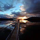 Te Anau Sunset. South Island, New Zealand. by Ralph de Zilva