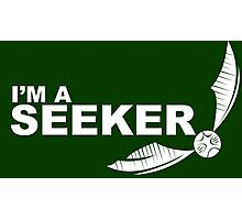 I'm a Seeker - White ink Photographic Print