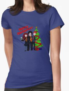 Harry Potter Christmas Design - Merry Christmas! Womens Fitted T-Shirt