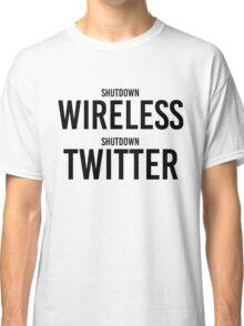 """STORMZY SHUT UP """"shutdown wireless, shutdown twitter"""" Classic T-Shirt"""