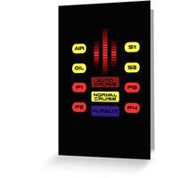 Knight Rider KITT Car Dashboard Graphic Greeting Card
