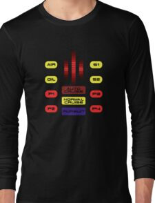Knight Rider KITT Car Dashboard Graphic Long Sleeve T-Shirt