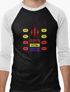 Knight Rider KITT Car Dashboard Graphic Men's Baseball ¾ T-Shirt