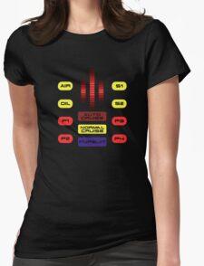 Knight Rider KITT Car Dashboard Graphic Womens Fitted T-Shirt