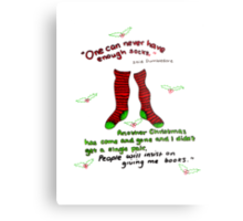 """Harry Potter Christmas Design - """"One can never have enough socks!"""" Metal Print"""
