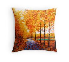Golden Trail Throw Pillow