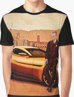 Daniel Craig in SPECTRE as James Bond Graphic T-Shirt