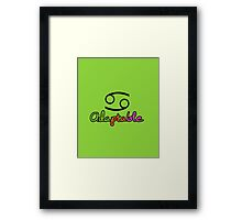 Cancer Upfront Framed Print