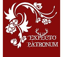 Expecto patronum floral pattern Photographic Print