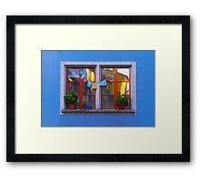 The window affair Framed Print