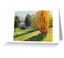 Autumn Poplars Carcor Greeting Card