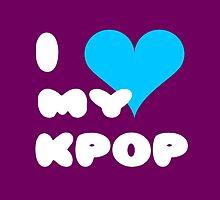 I LOVE MY KPOP - Purple by Kpop Seoul Shop