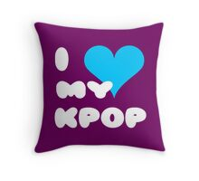 I LOVE MY KPOP - Purple Throw Pillow