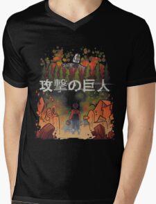 Attack on giant Mens V-Neck T-Shirt