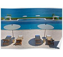 Azure Pool Terrace Poster