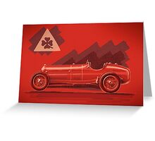 Alfa Romeo P3 - Digital Painting Greeting Card