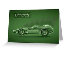 Vanwall - Digital Painting Greeting Card
