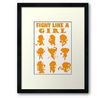 League of Legends Fight Like A Girl Orange Framed Print