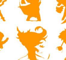 League of Legends Fight Like A Girl Orange Sticker