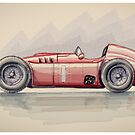 Lancia D50 - Digital Painting by David Jones