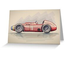 Lancia D50 - Digital Painting Greeting Card